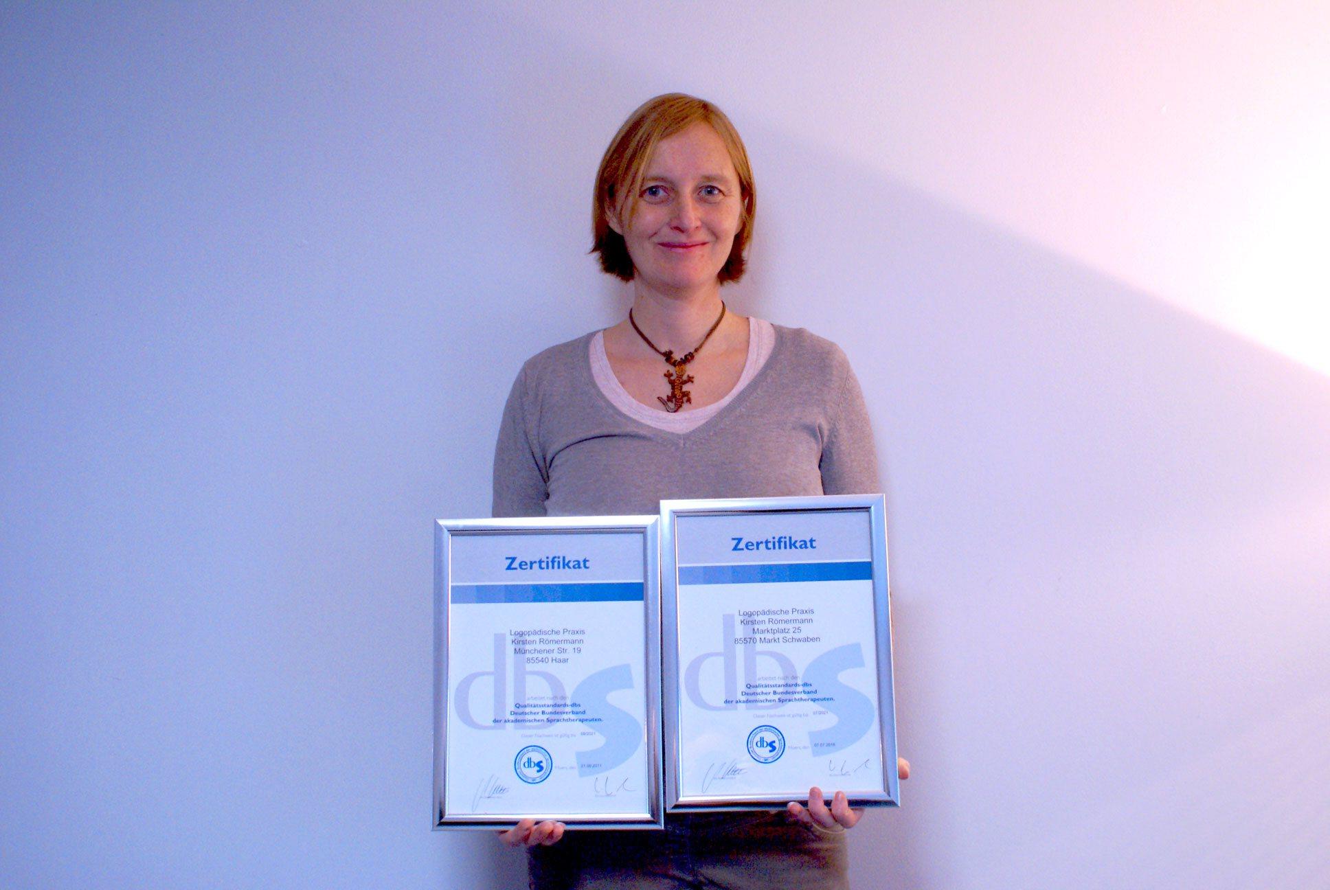 Zertifzierte Praxis für Logopädie Haar und Makt Schwaben - Kirsten Römermann